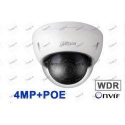 Câmara Dahua 4MP POE mini Dome IP de Rede Led de 30m com tomada para microfone