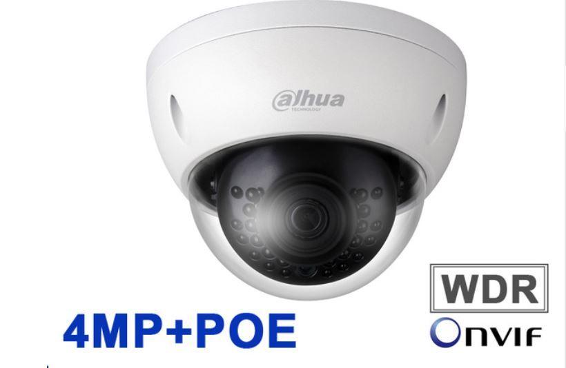 Kameran Dahua 4 MEGAPIXEL POE mini Dome IP-Nätverk Led-30m med uttag för mikrofon