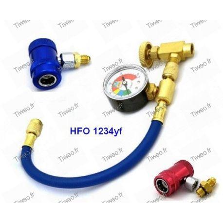 Raccord climatisation pour gaz HFO 1234yf, R134a et R12