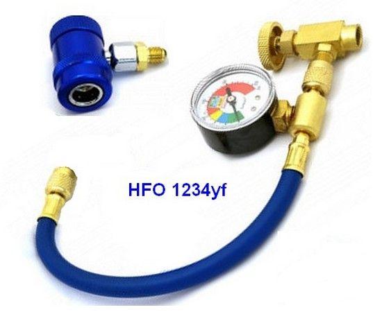 Montaje de recarga HFO 1234yf de baja presión
