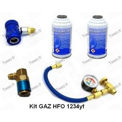 Air conditioning charging HFO 1234yf