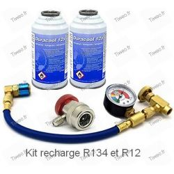 Recharge climatisation raccord R134a R12