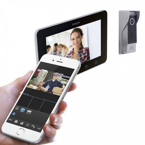 Videoconferência IP com tela de lcd, campainha de vídeo