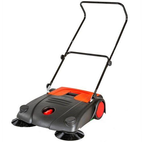 Sweeper manual para estacionamento beco calçada
