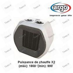 Fan-assisted ceramic heater