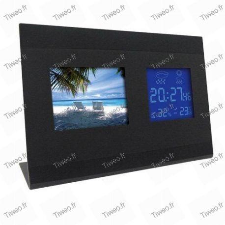 Digital weather frame clock
