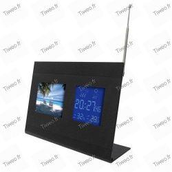 Horloge cadre numérique météo
