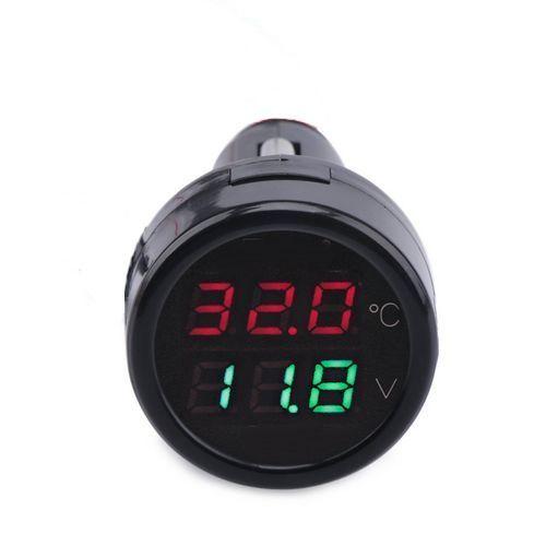 Thermomètre Voltmètre Allume-Cigare