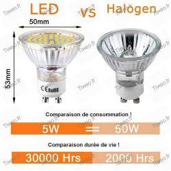 Glühbirne GU10 5W 60 Led 6000K