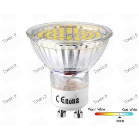 Bombilla LED GU10 5W 60 6000K