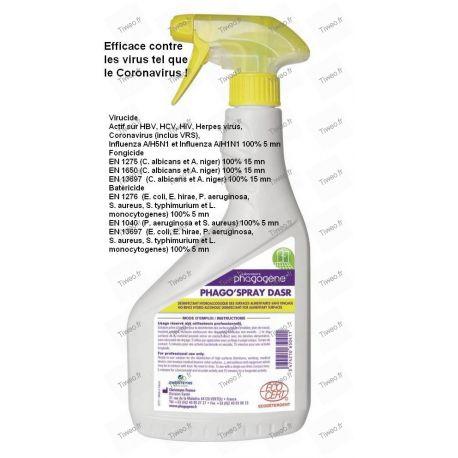 Désinfectant Coronavirus Virucide Bactéricide