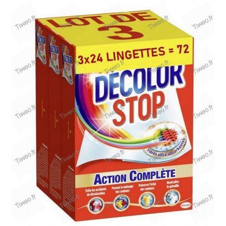 Décolor Stop lot de 72 lingettes