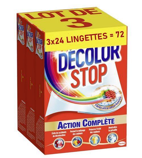 Conjunto Décolor Stop de 72 toalhetes