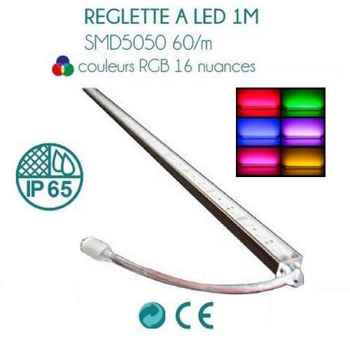 Tira de LED de color RGB de 1M con control remoto y transformador