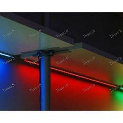 1M RGB-färg LED-strip med fjärrkontroll och transformator