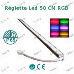 Tira de LED de color RGB de 50cm con mando a distancia y transformador