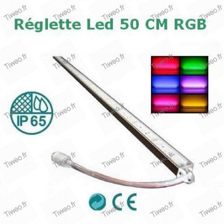 Fita LED colorida RGB de 1M com controle remoto e transformador
