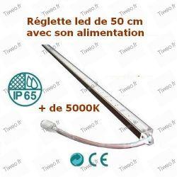 Tira de LED blanco frío de 50 cm Fuente de alimentación 12V incluida