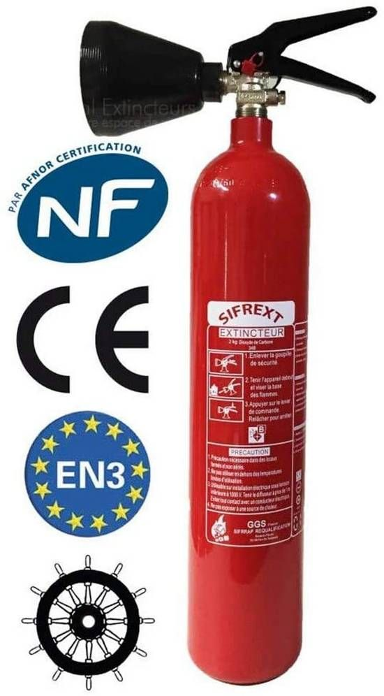 2 kg Kohlendioxid (CO2) Feuerlöscher