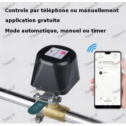 Válvula de grifo wifi inteligente, riego automático