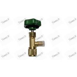 Vanne robinet pour recharge bouteille gaz R600a