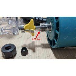 Adaptador de 6,35 mm para recortadora de enrutador Makita