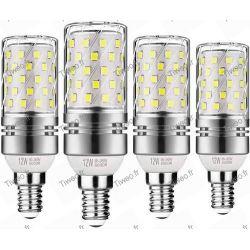 Ampoule LED E14 12W 6000k de type Maïs
