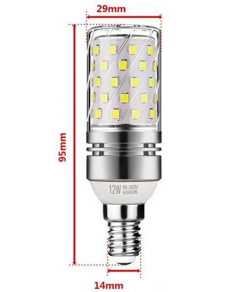 Lâmpada LED E14 12W 6000k Tipo de milho