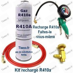 R410a recharge kit with manometer