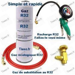 Kit de recarga R32 com manômetro