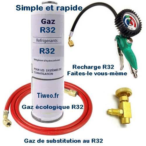 Kit recharge R32 avec manomètre