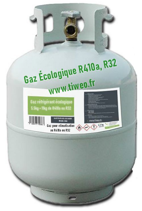 Substitute gas R410a 11kg, Gas R32 of ecological substitution