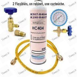 Kit de carregamento R407 com medidor de pressão para ar condicionado