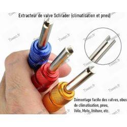 Outils pour obus et valves Schrader de climatisation et pneu