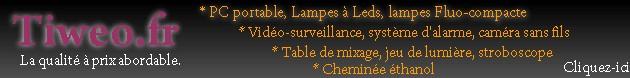 chemin�e �thanol, lampes a leds, led, vid�o-surveillance, table de mixage, flu-compacte